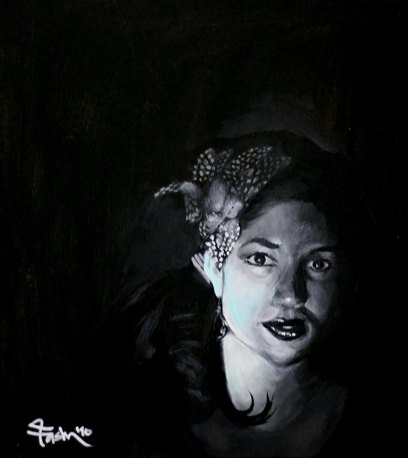 Black Painting - Wifey by Aaron Vickery