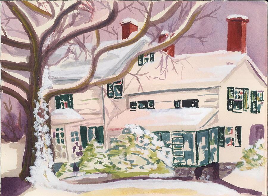 Landscape Painting - Wilcox House Elizabeth Nj by Alice Kaplan