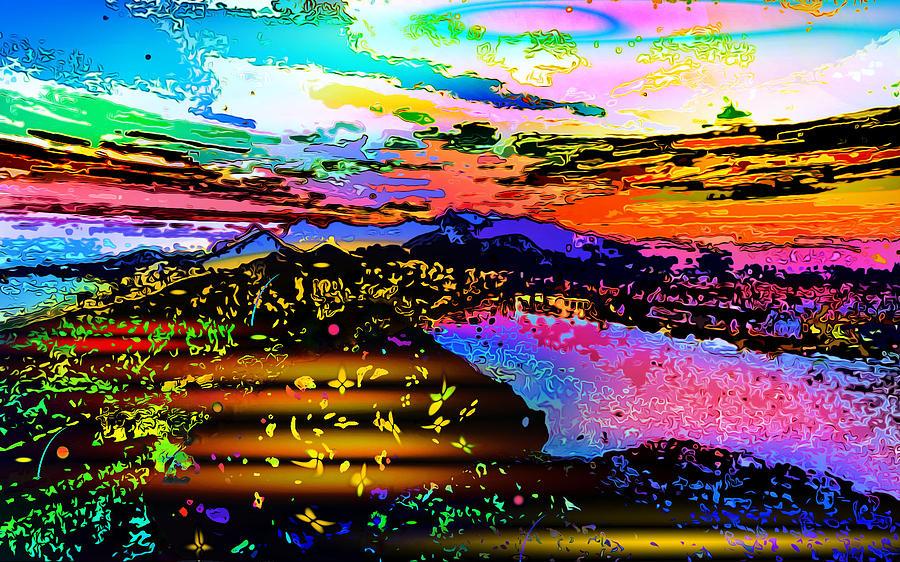 World's Digital Art - Wild And Crazy Mountainous Sunset by Ron Fleishman