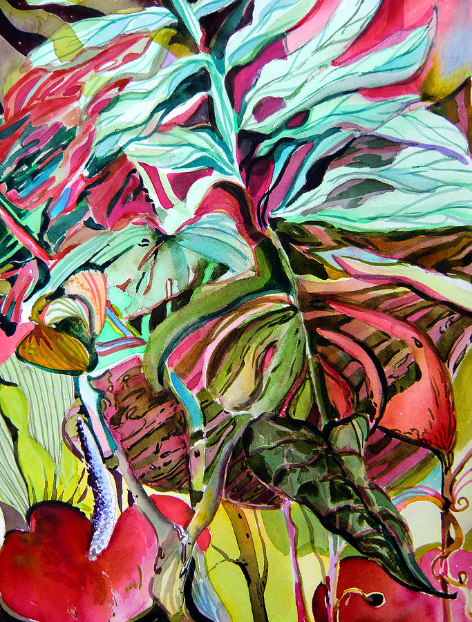 Jungle Painting - Wild And Grace Filled by Mindy Newman