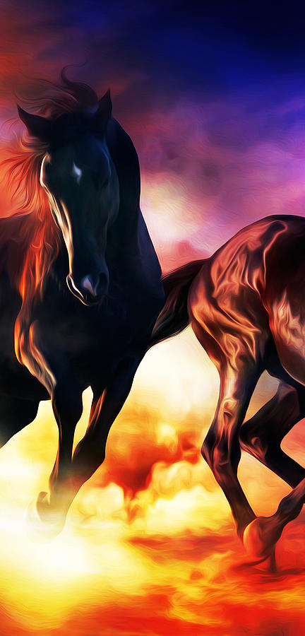 Horse Digital Art - Wild Beauty by Canvas Cultures