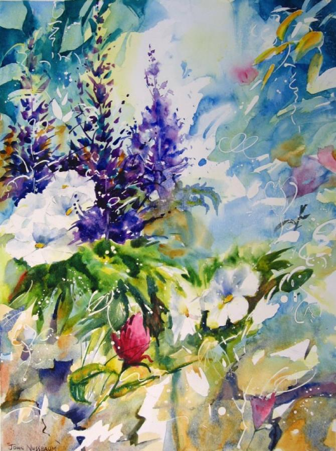 Abstract Paintings Painting - Wild Beauty by John Nussbaum