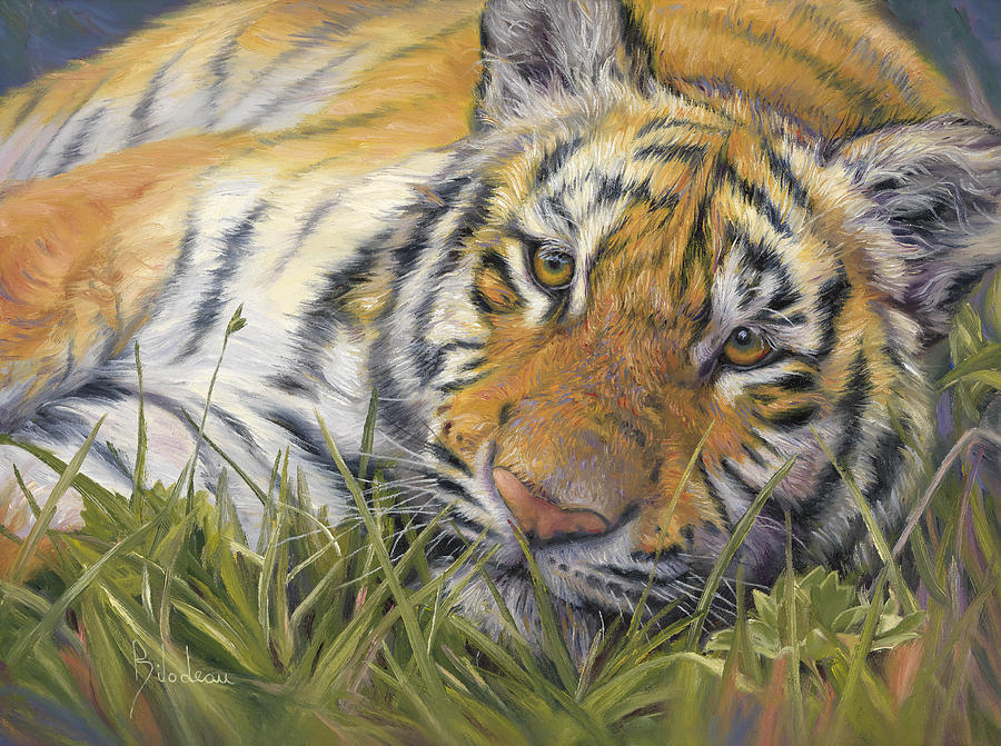 Tiger Painting - Wild Beauty by Lucie Bilodeau