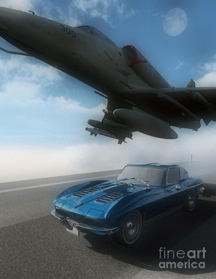 Automotive Digital Art - Wild Blue by Richard Rizzo
