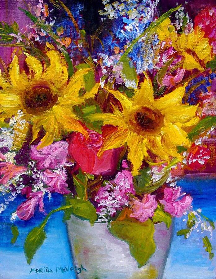 Wildflowers Painting - Wild Bunch by Marita McVeigh