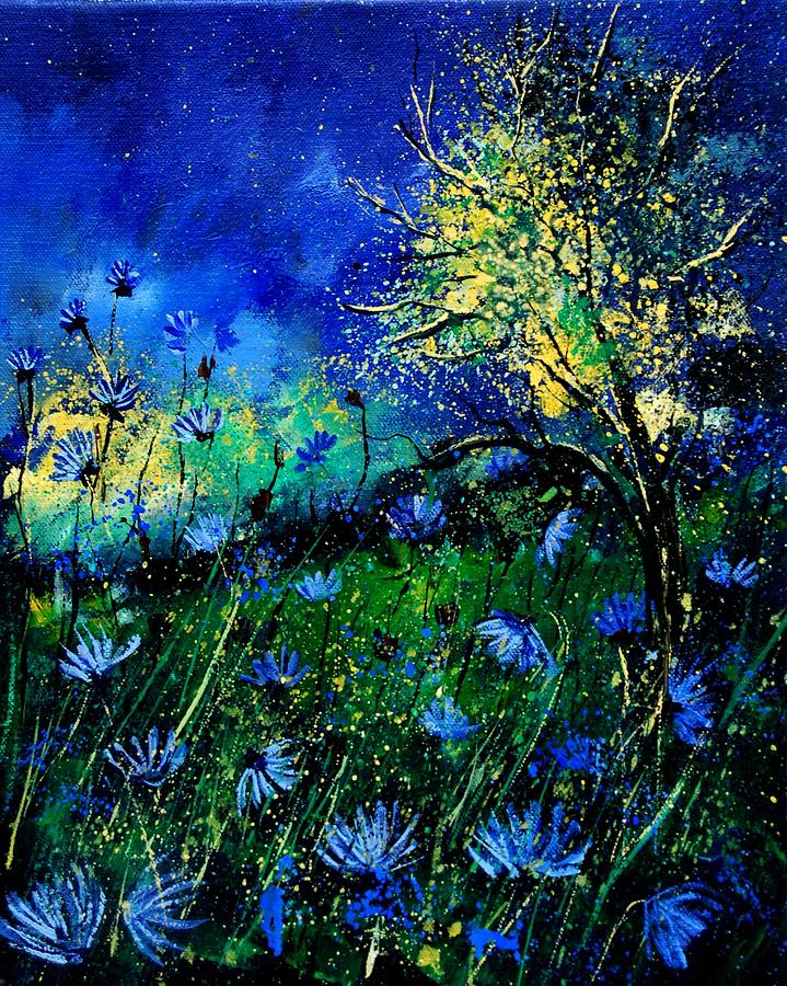 Poppies Painting - Wild Chocoree by Pol Ledent
