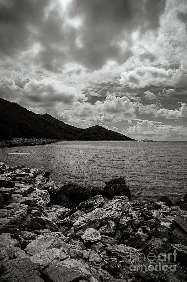 B&w Photograph - Wild Coast by Diego Muzzini