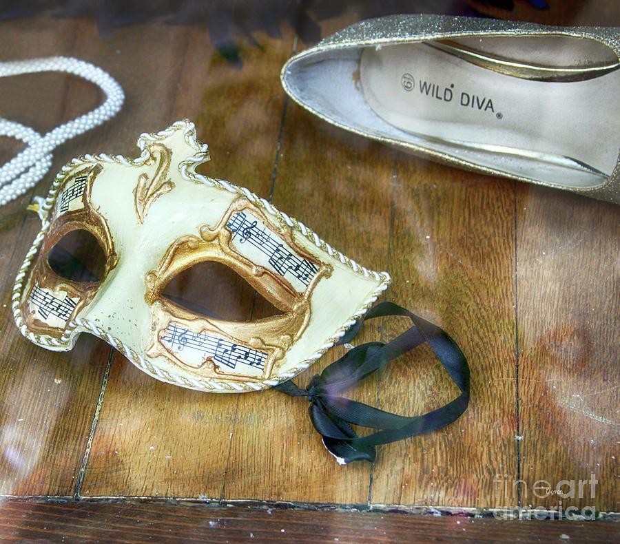 Masks Photograph - Wild Diva  by Steven Digman