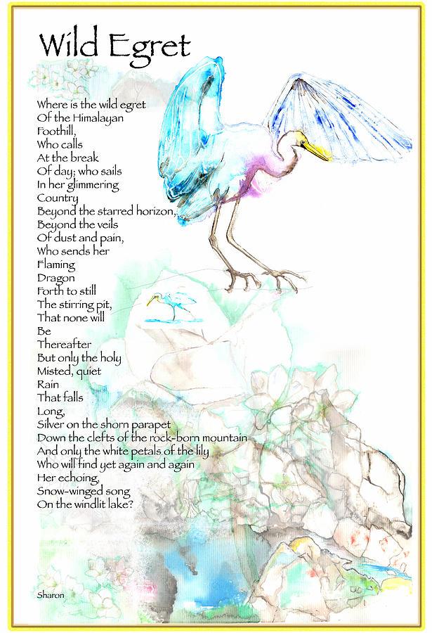 Birds Painting - Wild Egret by Sharon StJoan