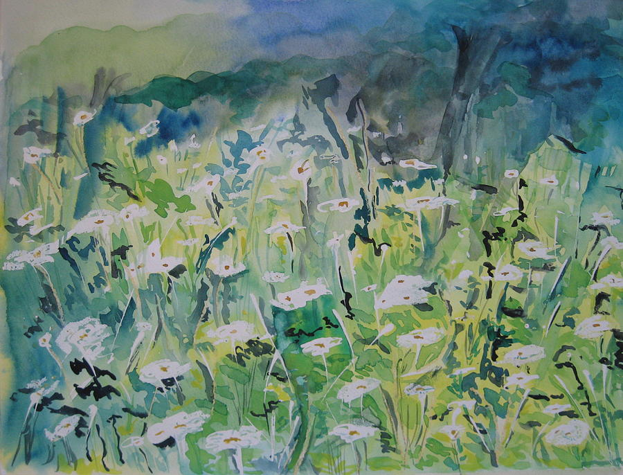 Flowers Painting - Wild Fields by Sarah Hoddy