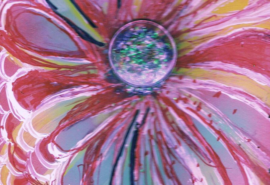 Flower Mixed Media - Wild Flower With A Magic Eye by Anne-Elizabeth Whiteway
