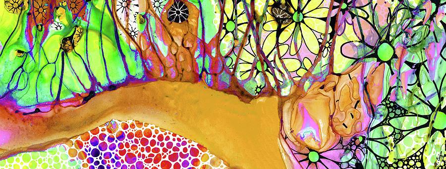 Wild Flowers Painting - Wild Flowers Abstract Art - Sharon Cummings by Sharon Cummings