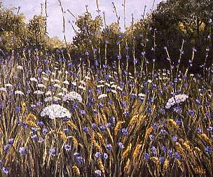 Wild Flowers Painting by Biki Chaplain