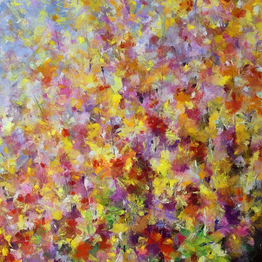 Abstract Digital Art - Wild Flowers IIi by Ronald Bolokofsky