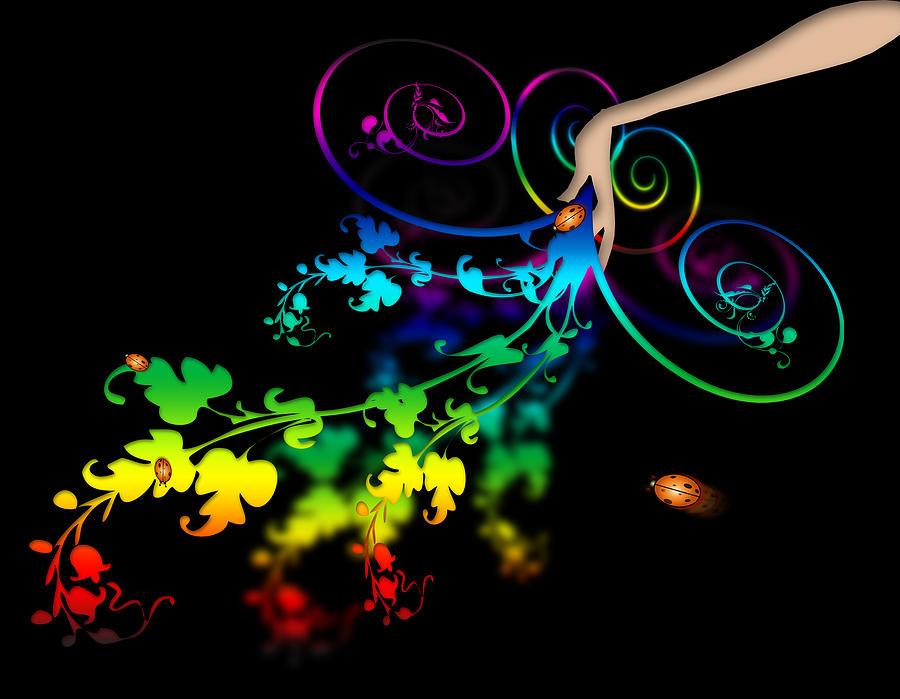 Abstract Digital Art - Wild Flowers by Svetlana Sewell