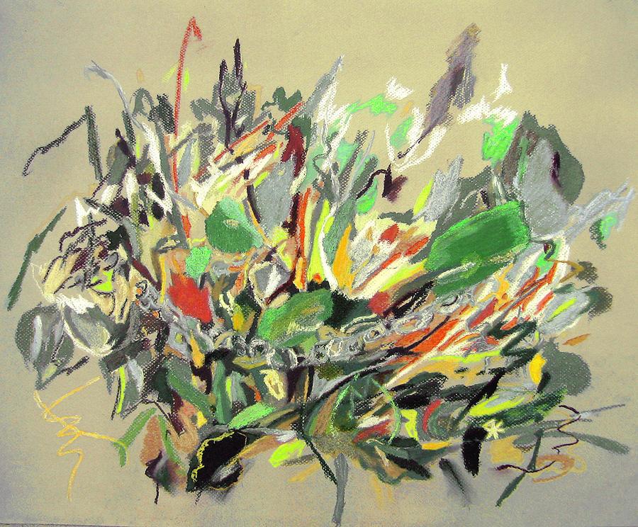 Fantasy Painting - Wild Flowers  by Tadeush Zhakhovskyy