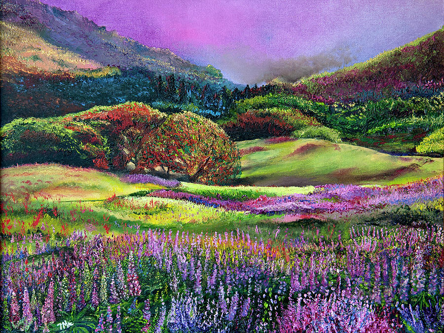 Landscape Painting - Wild Flowers by Terry R MacDonald