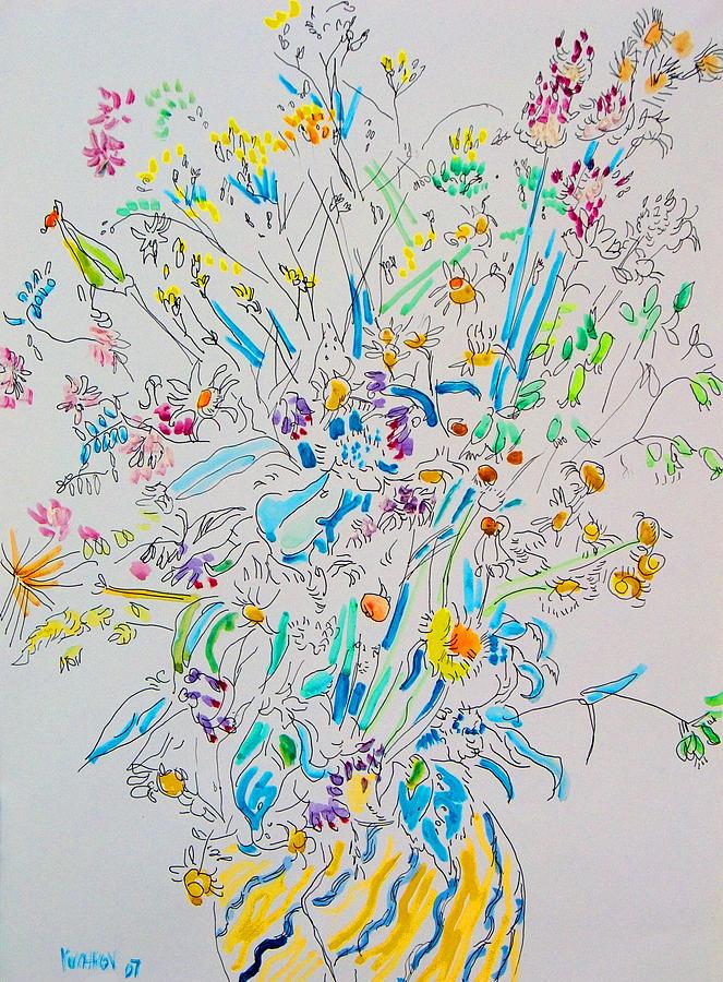 Wild Painting - Wild flowers by Vitali Komarov