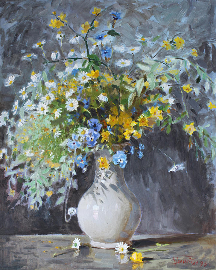 Flowers Painting - Wild Flowers by Ylli Haruni