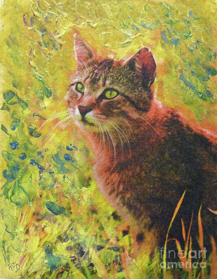 Wild Garden Tabby Painting