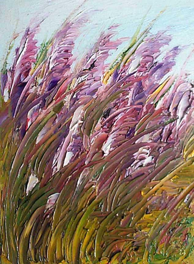 Gladiolas Painting - Wild Gladiolas by Robert Laper