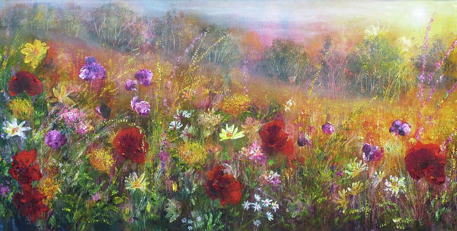 Wild Flowers Painting - Wild Glory by Ann Marie Bone