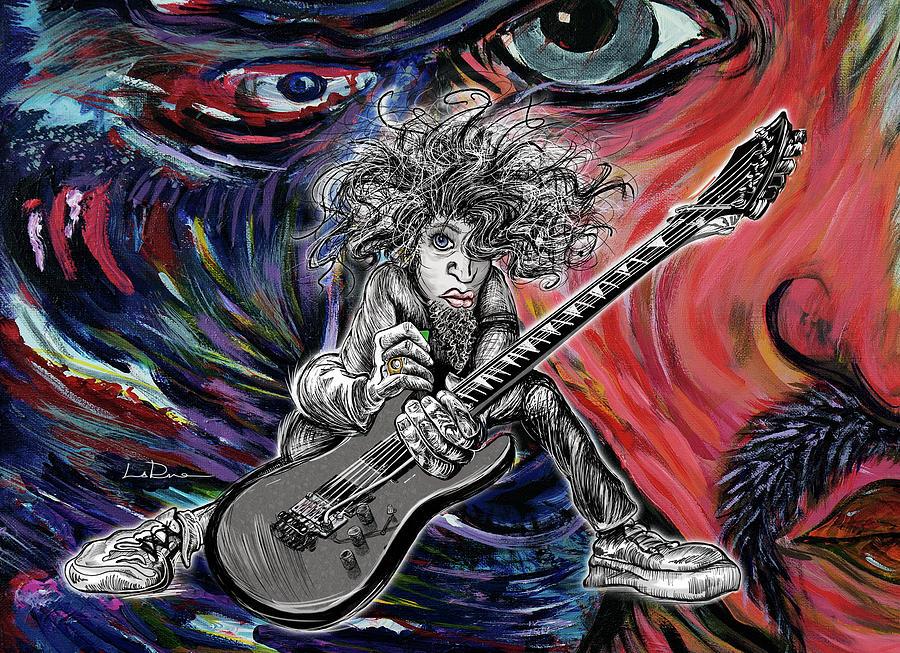 Wild Hair Painting - Wild Hair Guitar by Doug LaRue