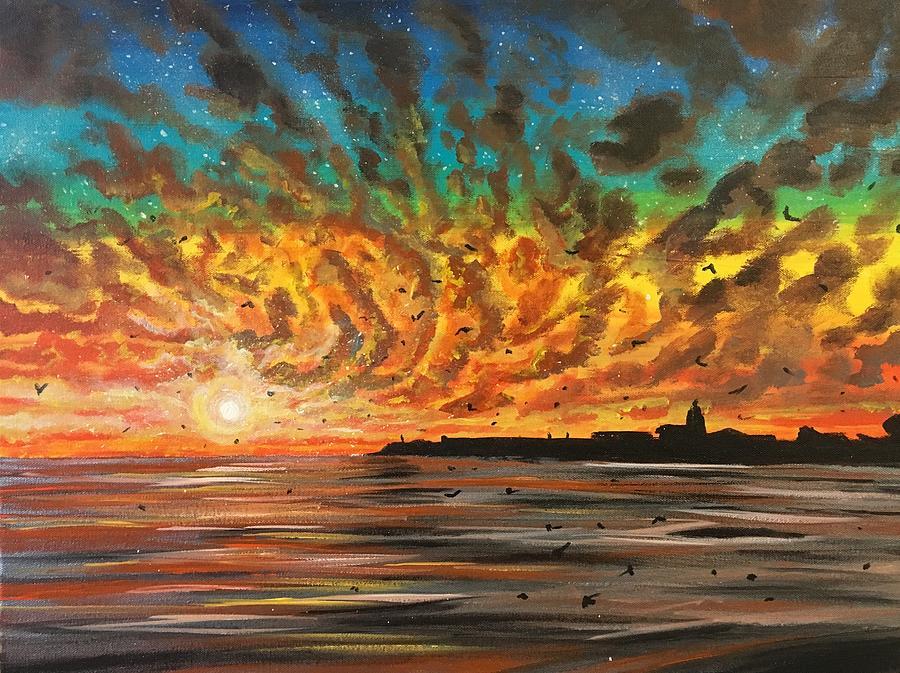 Santa Cruz Painting - Wild Hearted Sun - Santa Cruz by Joel Tesch