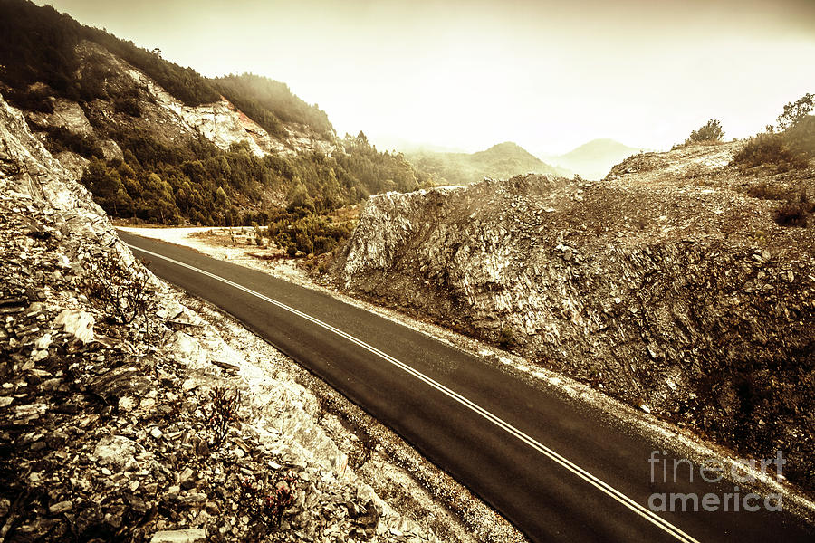 Landscape Photograph - Wild Highland Road by Jorgo Photography - Wall Art Gallery