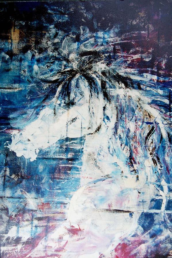 Horse Painting - Wild Horse by Blima Efraim