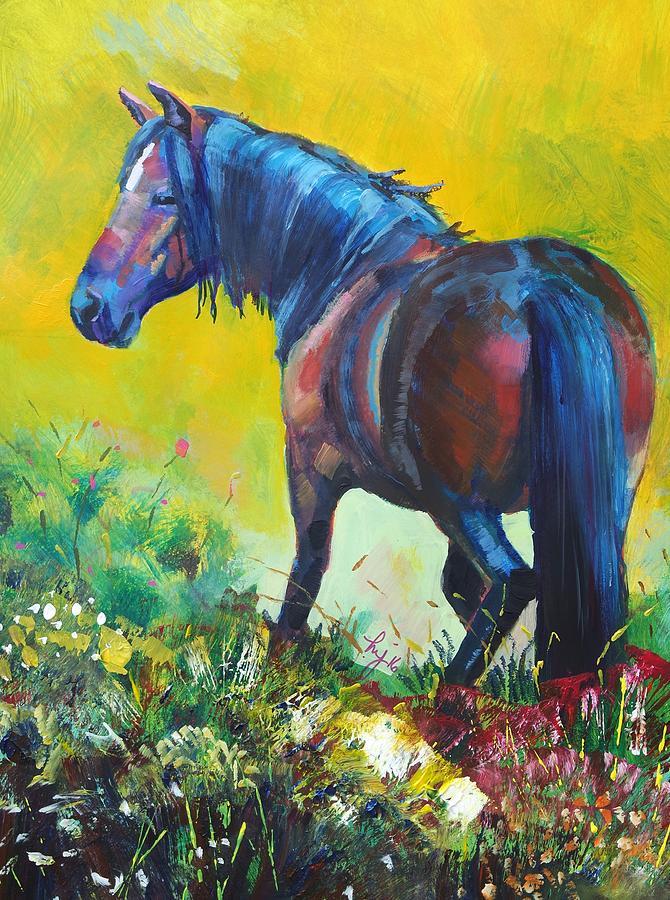 Wild Horse On Dartmoor - Roaming Free Painting