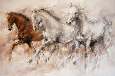 Wild Horses Painting by Gary Benfield