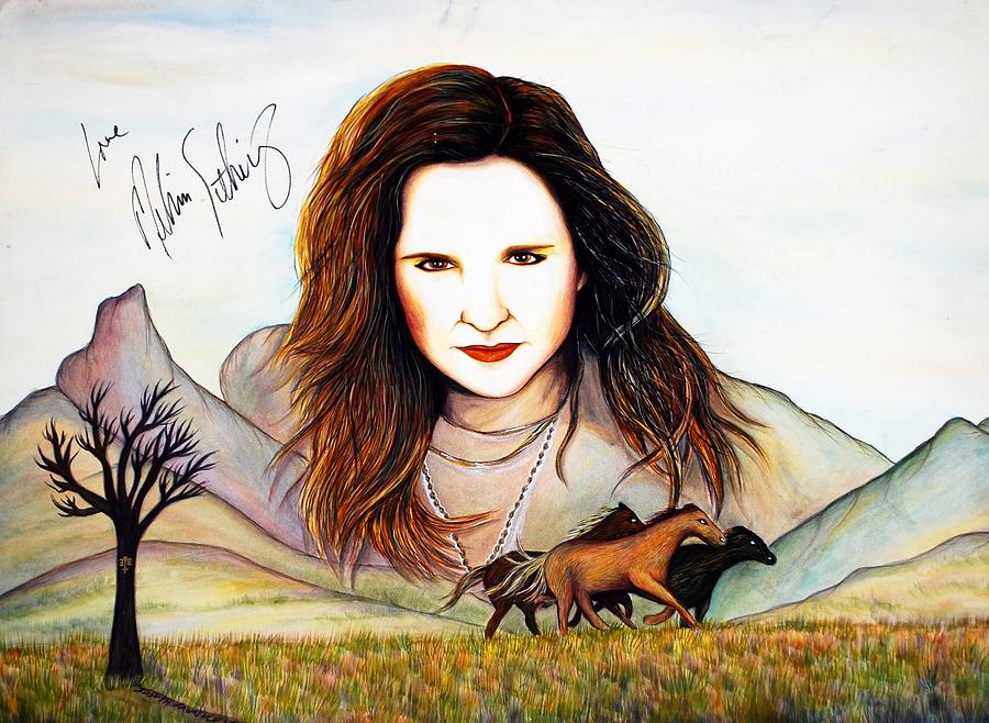 Actress Mixed Media - Wild Horses by Joseph Lawrence Vasile