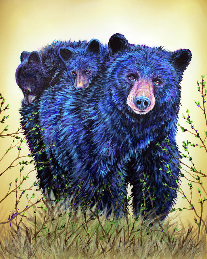 Wild Hucklebearies by Teshia Art