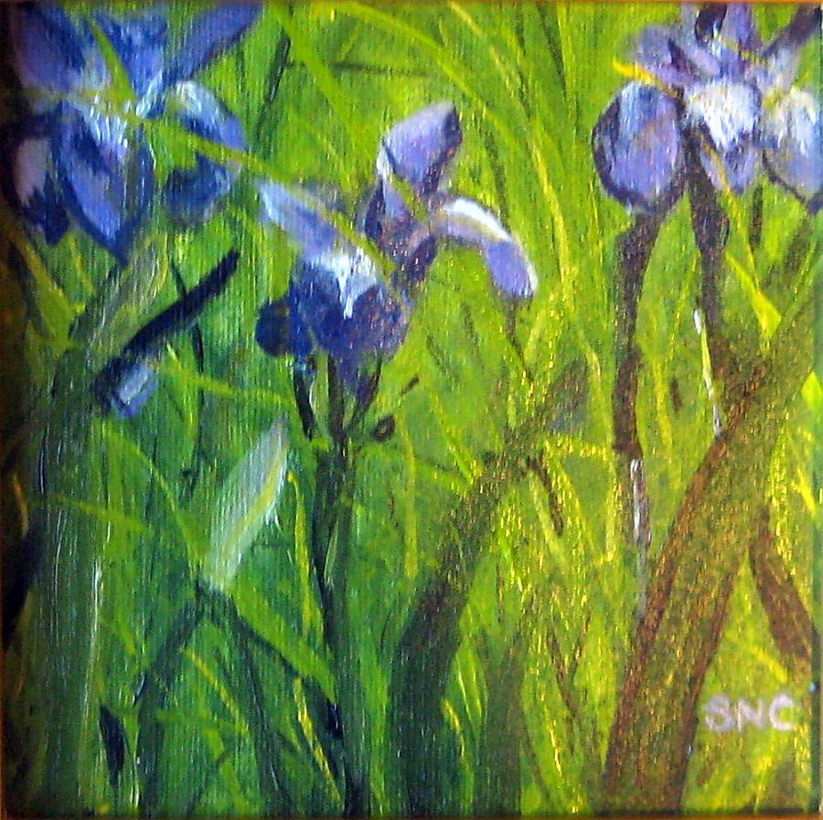 Landscape Painting - Wild Iris by Susan Coffin