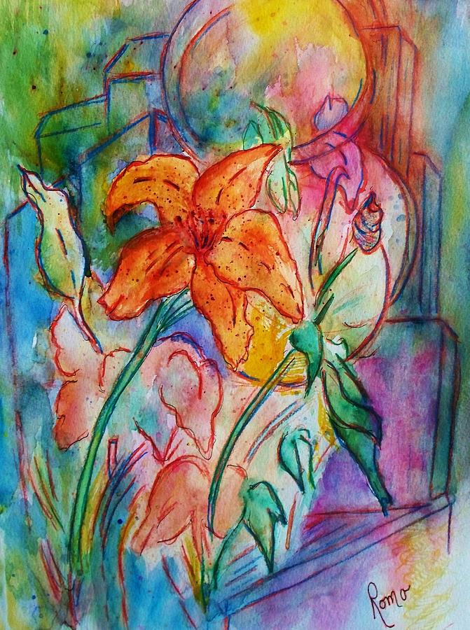 Floral Painting - Wild Lily by Robin Monroe