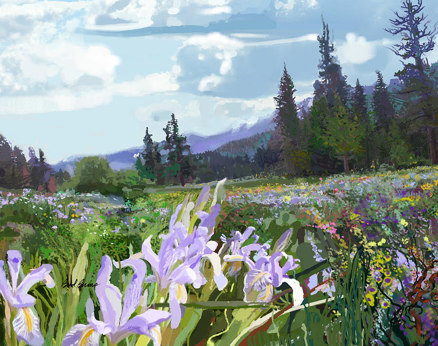 Wild Meadow Painting