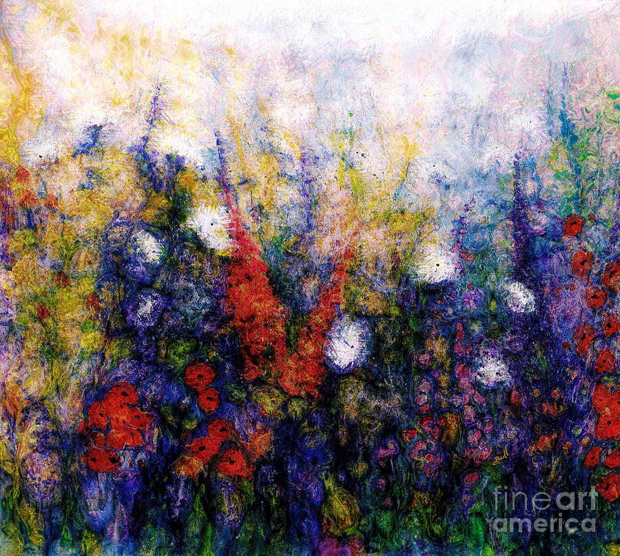 Flowers Mixed Media - Wild Meadow Flowers by Claire Bull