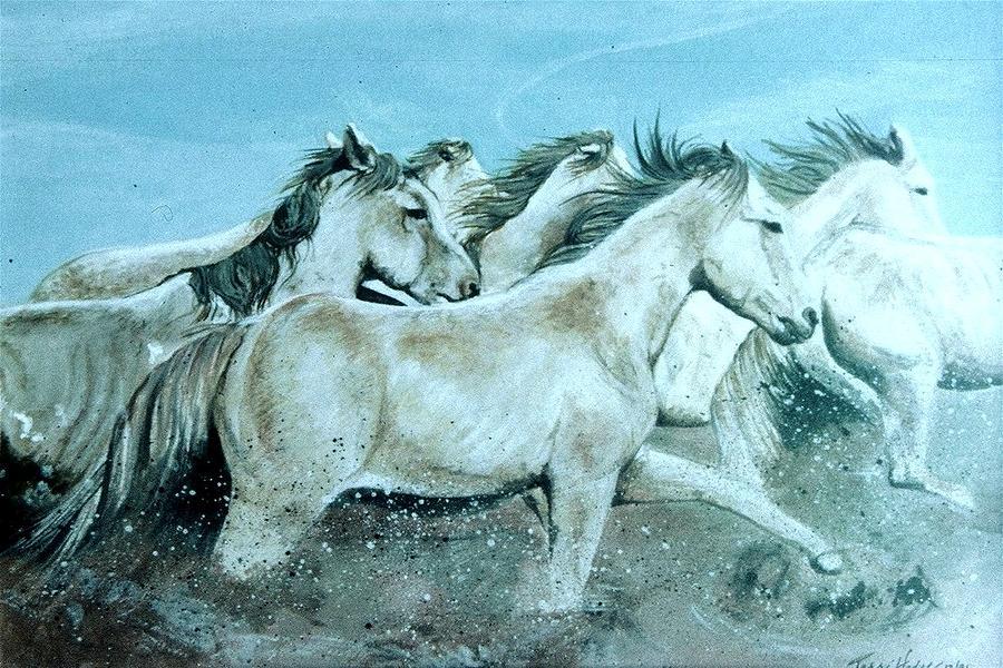 Horse Painting - Wild Ones by Terri Kilpatrick