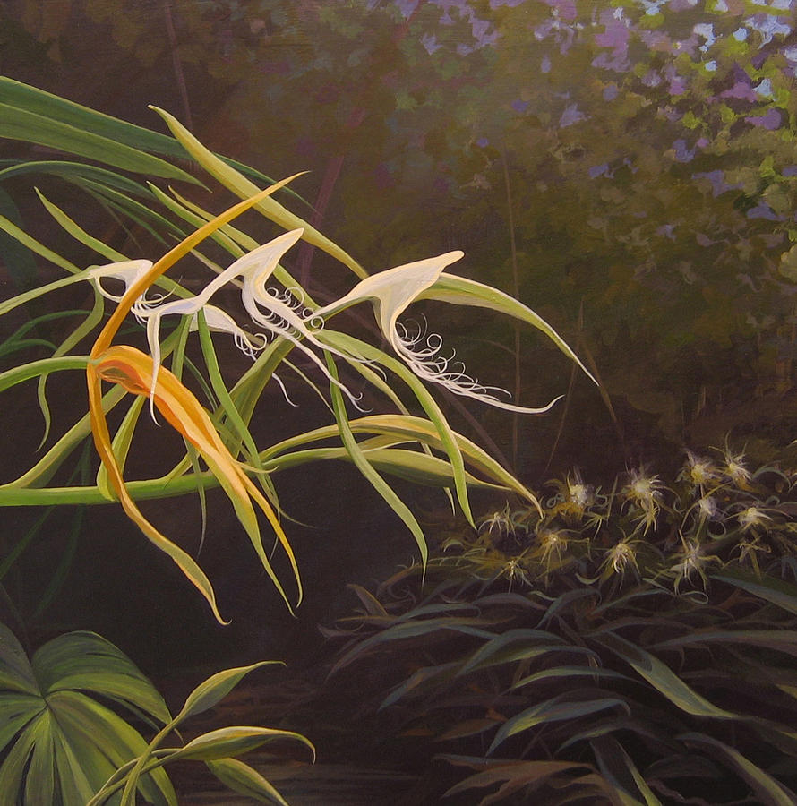 Caribbean Painting - Wild Orchids by Hunter Jay