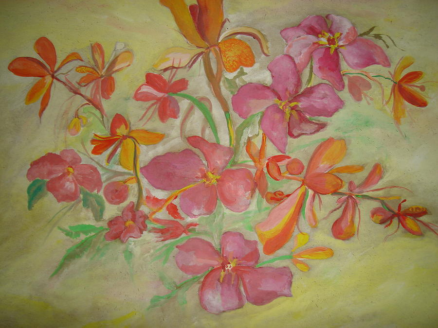 Flowers Painting - Wild Orchids by Seema Sharma