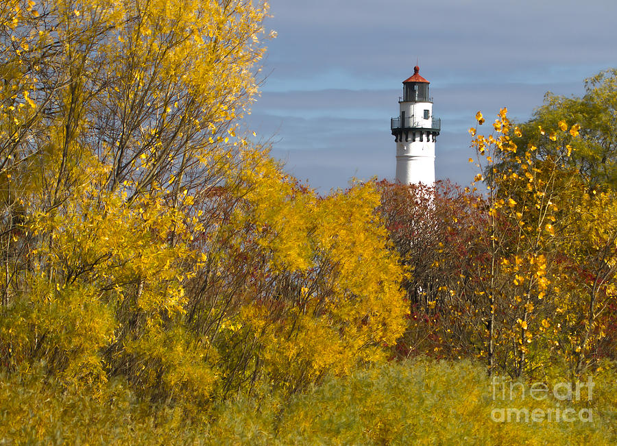 Canon Photograph - Wind Point Lighthouse in Fall by Ricky L Jones