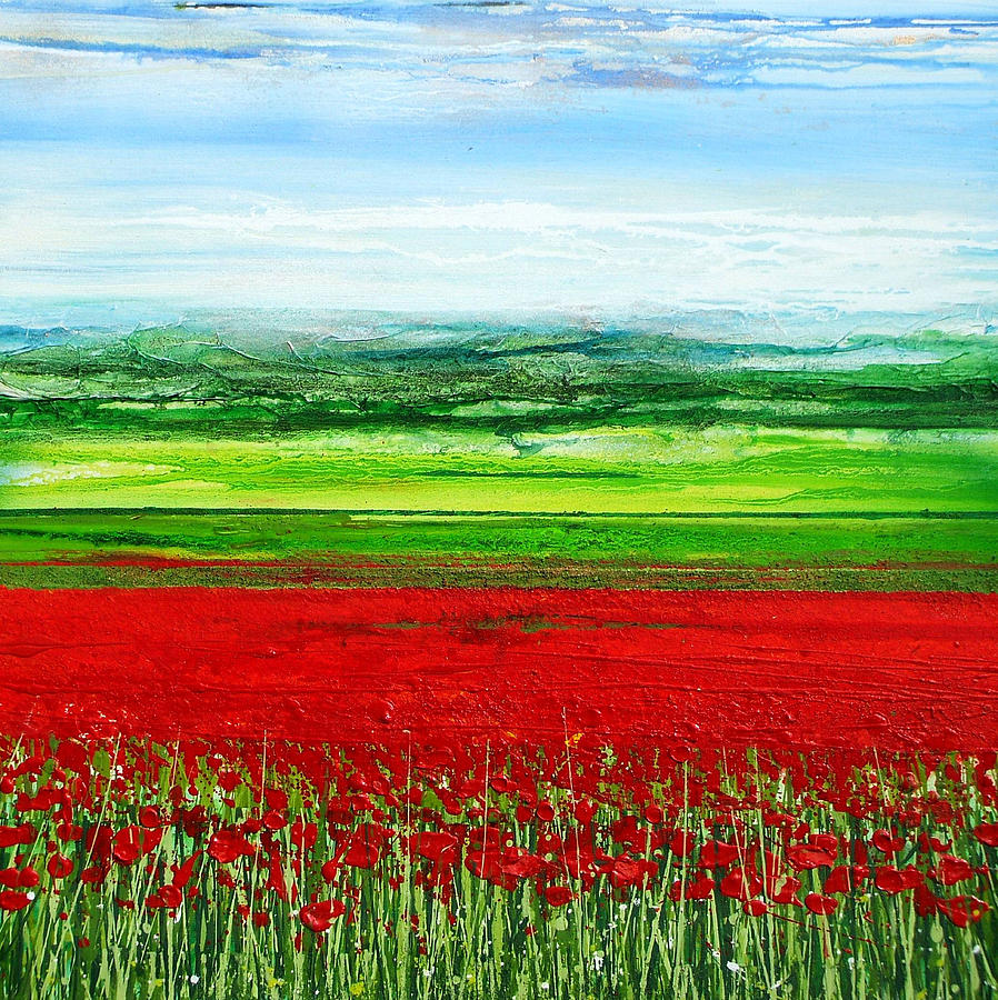 Wild Poppies Corbridge Northumberland 2009 Mixed Media by Mike   Bell