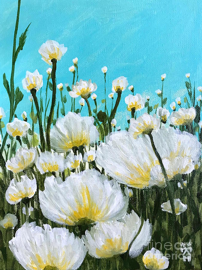 Poppy Painting - Wild Poppies  by Wonju Hulse