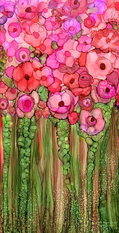 Wild Poppy Garden - Pink by Carol Cavalaris