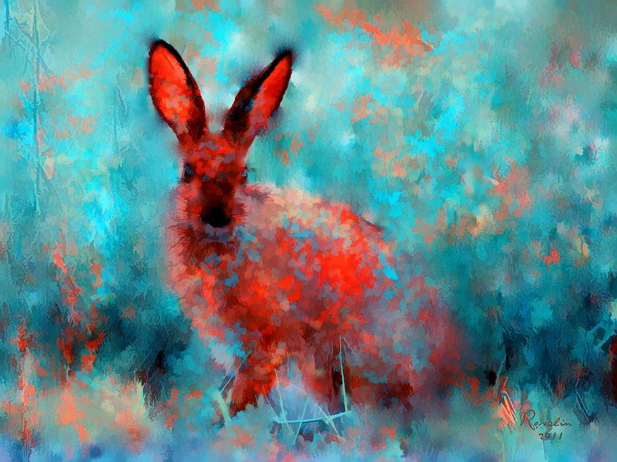 Rabbit Painting - Wild Rabbit by Rosalina Atanasova