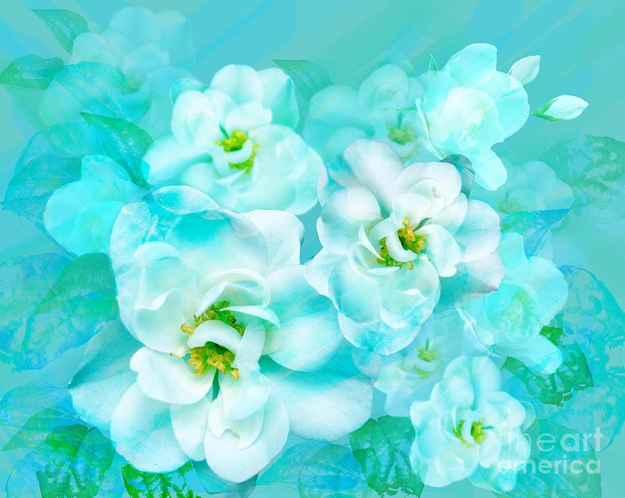 Floral Digital Art - Wild Rose by Julia Underwood