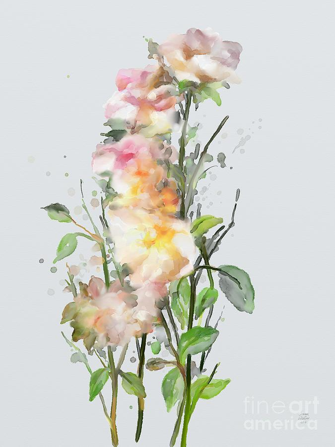 Wild Roses Painting - Wild Roses by Ivana Westin