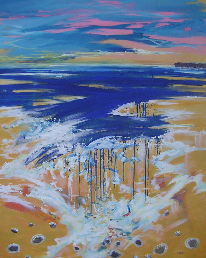 Sea Painting - Wild Sea At Lahinch by Eamon Doyle