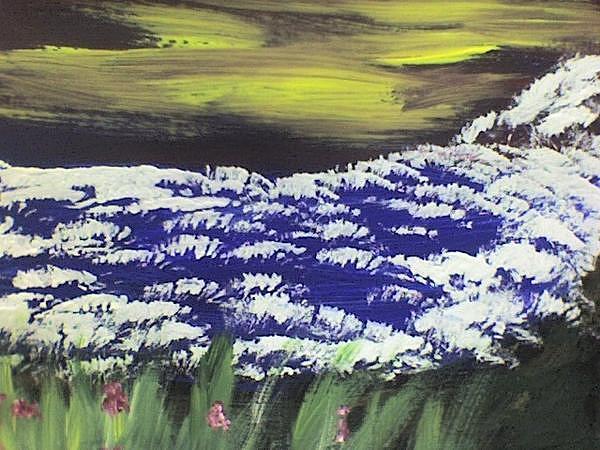 Sunsets Painting - Wild Skies by Johnna Crider